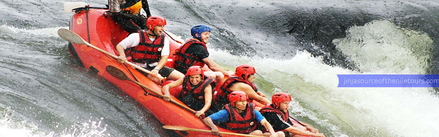 White water rafting in Jinja source of the Nile