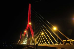 new cable stayed bridge at the source of the Nile in Jinja