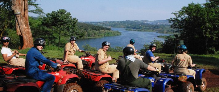 Quad biking in Jinja source of the Nile