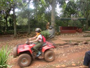 Quad biking at Jinja source of the Nile